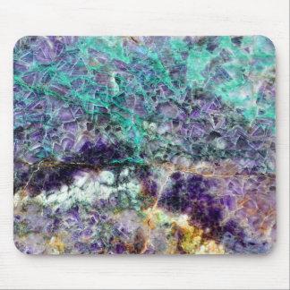 Mousepad mineral de pedra amethyst am da gema da rocha do