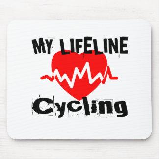 Mousepad Minha linha de vida ciclismo ostenta o design