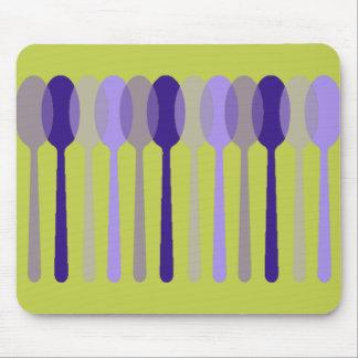 Mousepad MOD-ART-DESIGN_Spoons-Grape-Olive