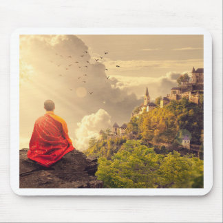 Mousepad Monge Meditating antes do grande templo