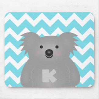 Mousepad Monograma bonito do urso de Koala do bebê de