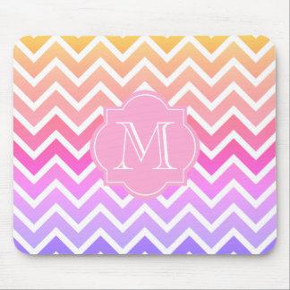 Mousepad Monograma feito sob encomenda cor-de-rosa feminino