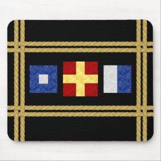 Mousepad Monograma marítimo da bandeira de sinal da