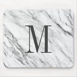 MousePad Monogrammed de pedra de mármore