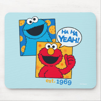 Mousepad Monstro & Elmo do biscoito | Ha Ha yeah