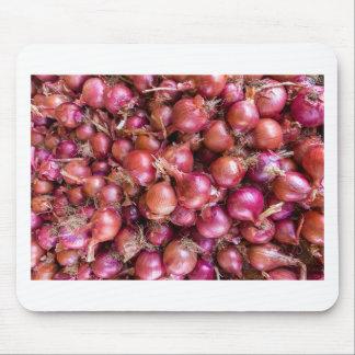 Mousepad Montão de cebolas vermelhas no mercado