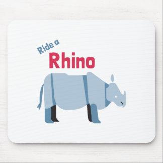Mousepad Monte um rinoceronte