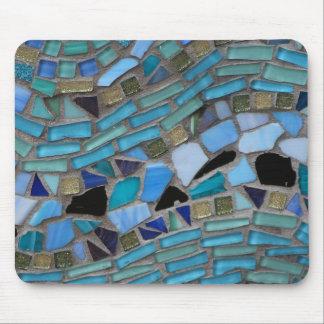 Mousepad Mosaico azul do vidro do mar