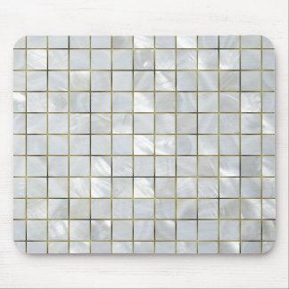 Mousepad Mosaico da madrepérola com grade da folha de ouro