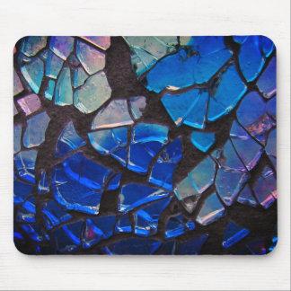 Mousepad Mosaico de vidro azul colorido