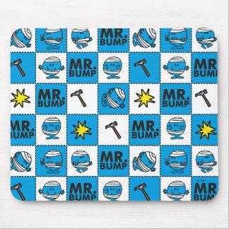 Mousepad Mosaico do Sr. Colisão | no teste padrão azul
