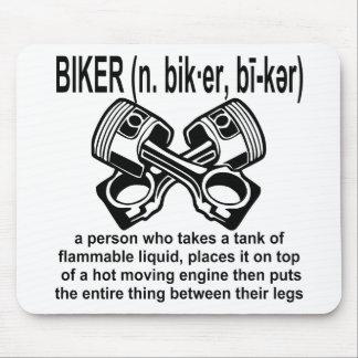 Mousepad Motociclista (n) definição: Uma pessoa de que tome