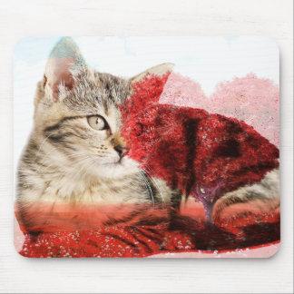 Mousepad mousemat do gato de gato malhado