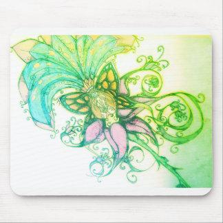 Mousepad Mousepa tropical do design gráfico do ombre verde