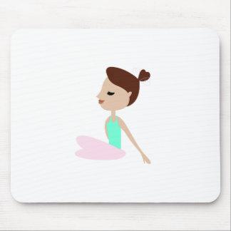 Mousepad Mulher da ioga do bem-estar no branco