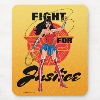 Mousepad Mulher maravilha com laço - luta para justiça