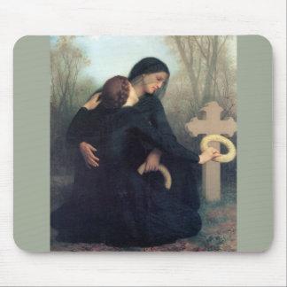 Mousepad Mulheres góticos Bouguereau da cruz preta do