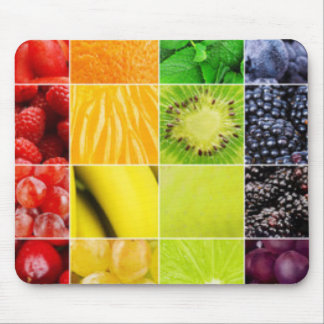 Mousepad Multi colagem colorida da fruta