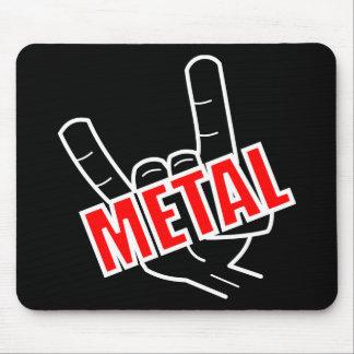 Mousepad Música da saudação do metal pesado