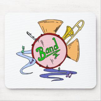 Mousepad Músico dos instrumentos musicais do logotipo da