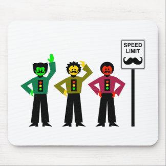 Mousepad Mustachio temperamental do limite de velocidade do