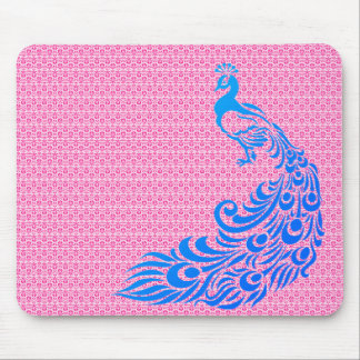 Mousepad Na moda-Rosa-Weave-Pavão-Azul-Unisex
