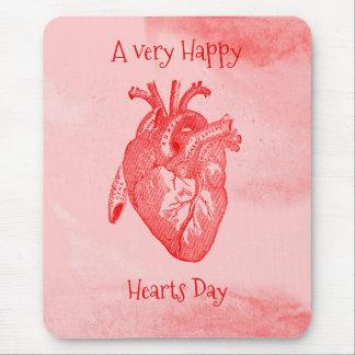 Mousepad Namorados felizes do dia dos corações