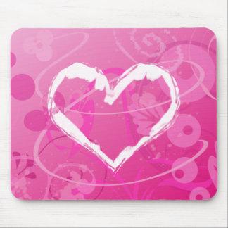 Mousepad Namorados modernos do coração do Grunge