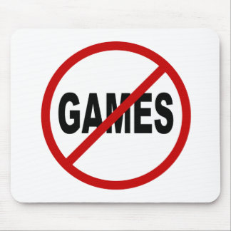 Mousepad Não deie os jogos/nenhum jogo permitidos a