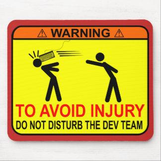 Mousepad Não perturbe a equipe do colaborador