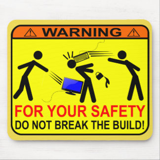 Mousepad Não quebre a construção!