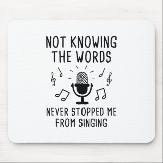Mousepad Não sabendo as palavras