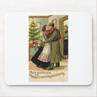 Mousepad Natal alemão do soldado do vintage retro