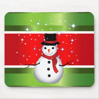 Mousepad Natal do boneco de neve
