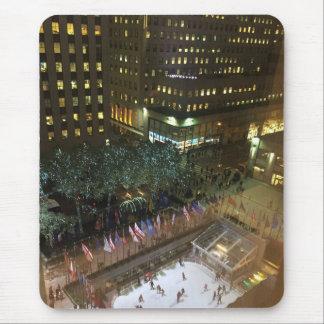 Mousepad Natal na pista de gelo Center de NYC Rockefeller