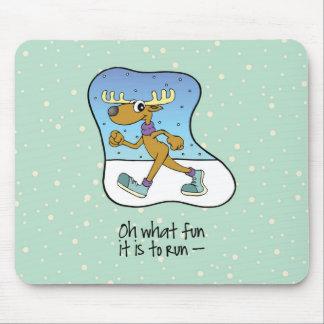 Mousepad Natal Running da rena do exercício