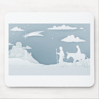Mousepad Natividade Mary Joseph e Bethlehem do Natal