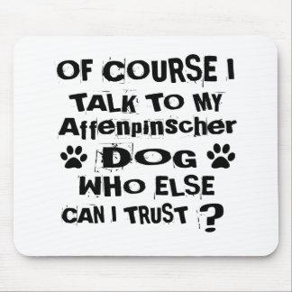 Mousepad Naturalmente eu falo a meu design do cão do