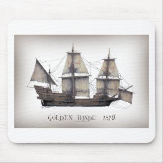 Mousepad Navio de Hinde do ouro 1578