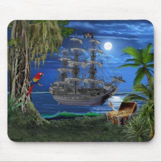 Mousepad Navio de pirata enluarada Mystical