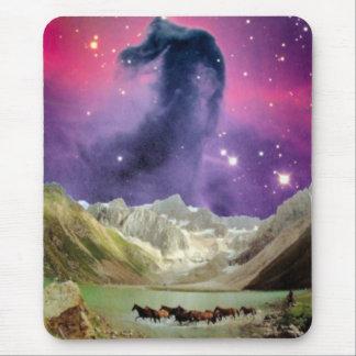 Mousepad Nebulosa de Horsehead sobre cavalos Running