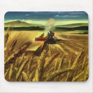 Mousepad Negócio agrícola da fazenda do vintage, cultivo do