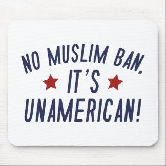 Mousepad Nenhuma proibição muçulmana