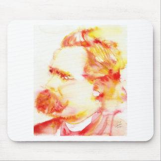 Mousepad nietzsche de Friedrich - aguarela portrait.3