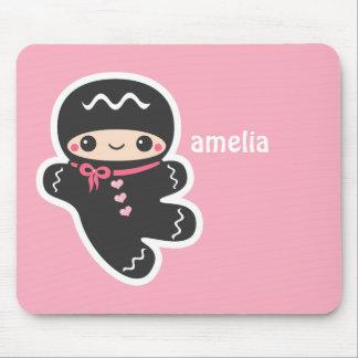 Mousepad Ninja cor-de-rosa