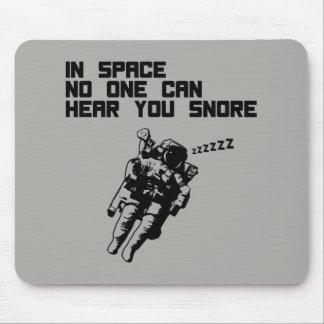 Mousepad No espaço ninguém pode ouvi-lo ressonar