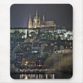Mousepad Noite da catedral do castelo de Praga St.Vitus