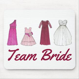 Mousepad Noiva da equipe que Wedding o vestido nupcial do