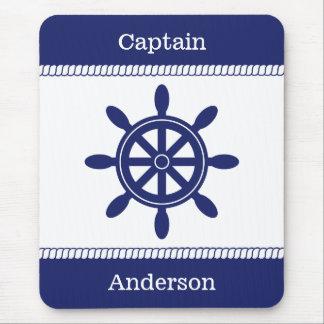 Mousepad Nome da Roda Náutico Corda Adição do capitão