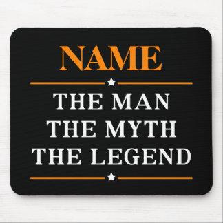 Mousepad Nome personalizado o homem o mito a legenda